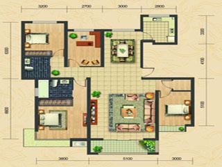 水城国际C户型176.59㎡四室两厅两卫户型辣评图片